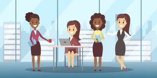 Commerciële vergadering in het concept van de conferentieruimte royalty-vrije illustratie