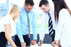 Commerciële vergadering - manager het bespreken Royalty-vrije Stock Foto