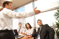 Commerciële vergadering, presentatie Royalty-vrije Stock Foto