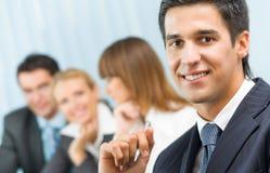 Commerciële vergadering, seminarie of conferentie royalty-vrije stock afbeelding