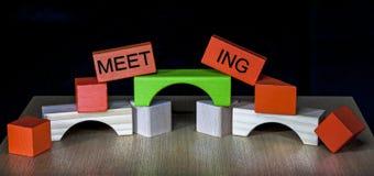 Commerciële Vergadering - Team Building Royalty-vrije Stock Afbeeldingen