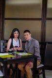 Commerciële vergadering tussen partners Royalty-vrije Stock Fotografie