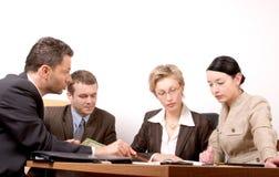 Commerciële vergadering van 4 personen  royalty-vrije stock afbeelding