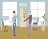 Commerciële vergaderings vectorillustratie Mededeling in offic vector illustratie