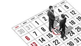 Commerciële vergaderingsbenoeming en handdruk stock afbeeldingen