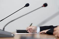 Commerciële vergaderingsconferentie Stock Afbeelding