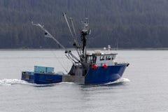 Commerciële vissersboot in Alaska stock fotografie