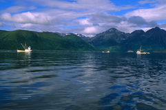 Commerciële vissersboten in Alaska Royalty-vrije Stock Fotografie