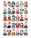 Commerciële volkeren, Kerstmis Royalty-vrije Stock Afbeeldingen