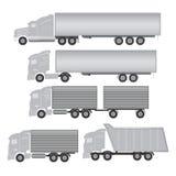 Commerciële vrachtwagen Royalty-vrije Stock Afbeeldingen