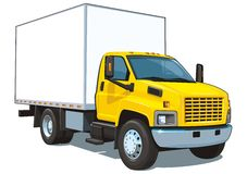 Commerciële vrachtwagen Stock Afbeeldingen