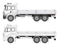 Commerciële vrachtwagenvector illust Stock Afbeeldingen
