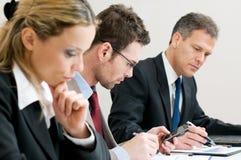 Commerciële werkende vergadering Royalty-vrije Stock Fotografie