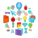 Commercial advertising icons set, cartoon style. Commercial advertising icons set. Cartoon set of 25 commercial advertising vector icons for web isolated on Stock Photos