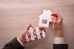 Commercial agent concept of housing and family Royalty Free Stock Photos