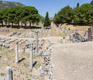 Commercial Agora and Temple of Serapis, Ephesus, Turkey. Commercial Agora the most important trade center of Ephesus, was built in the third century B.C in the Royalty Free Stock Photo