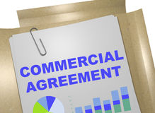 Commercial Agreement - business concept. 3D illustration of COMMERCIAL AGREEMENT title on business document Stock Photo