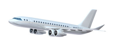 Commercial aiplane. stock illustration