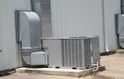 Commercial Air handling unit Stock Image