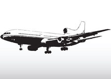 Commercial aircraft in flight Royalty Free Stock Images