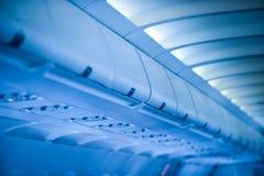 Commercial aircraft interior Stock Photos