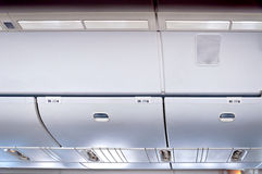 Commercial aircraft interior Royalty Free Stock Image