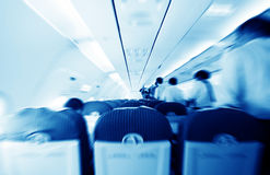 Commercial aircraft interior Royalty Free Stock Photos