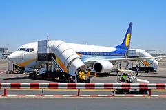 Commercial aircraft jet airways india Stock Photo