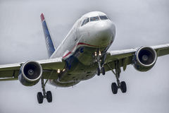 Commercial Aircraft Landing Royalty Free Stock Photo