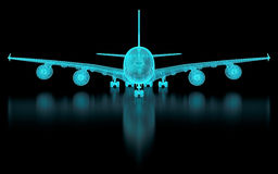 Commercial Aircraft Mesh Stock Photography