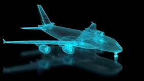 Commercial Aircraft Mesh stock footage