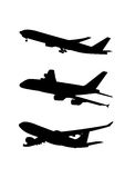 Commercial Aircraft symbol shadow Stock Image
