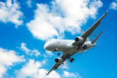 Commercial aircraft taking off Stock Image