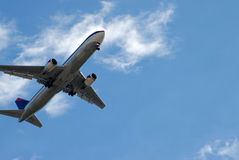 Commercial Airliner. Photographed commercial airliner landing at local airport Stock Photography