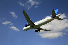 Commercial airliner Royalty Free Stock Photo