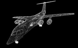 Commercial Airliner Royalty Free Stock Photos