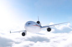 Commercial Airliner in Flight Royalty Free Stock Image