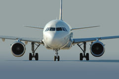Commercial airliner taxiing. At the airport Royalty Free Stock Images