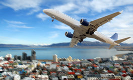 Commercial airplane Stock Image