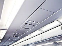 Commercial airplane ceiling Royalty Free Stock Photography