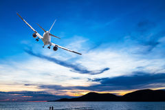 Commercial airplane Stock Photography