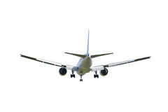 Commercial airplane isolated on white Stock Photo
