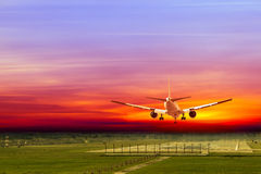 Commercial airplane Royalty Free Stock Photography