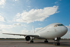 Commercial airplane parking Stock Photos