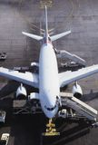 Commercial Airplane Ready for Loading Stock Image