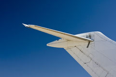 Commercial airplane tail Stock Image