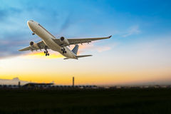 Commercial airplane take off Royalty Free Stock Photo