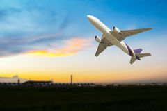 Commercial airplane take off Stock Image
