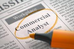 Commercial Analyst Job Vacancy. 3D. Stock Photo