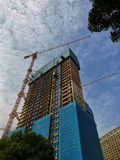 Commercial apartment under construction in wuhan city royalty free stock photos